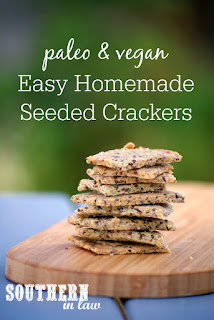Easy Grain Free Crackers Recipe - gluten free, vegan, grain free, low carb, dairy free, egg free, clean eating recipe