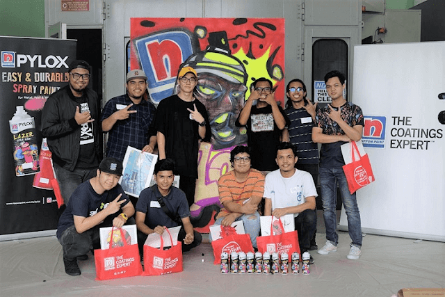 Graffiti Workshop Katun, Nippon Paint, Seni Grafiti,