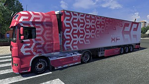Candy DAF XF skin + trailer