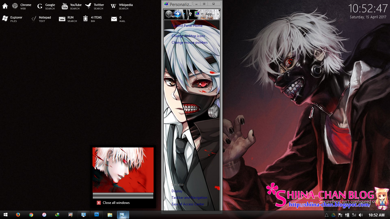 Google themes anime tokyo ghoul - Download Tema Windows 8 8 1 Dan 10 Anime Tokyo Ghoul