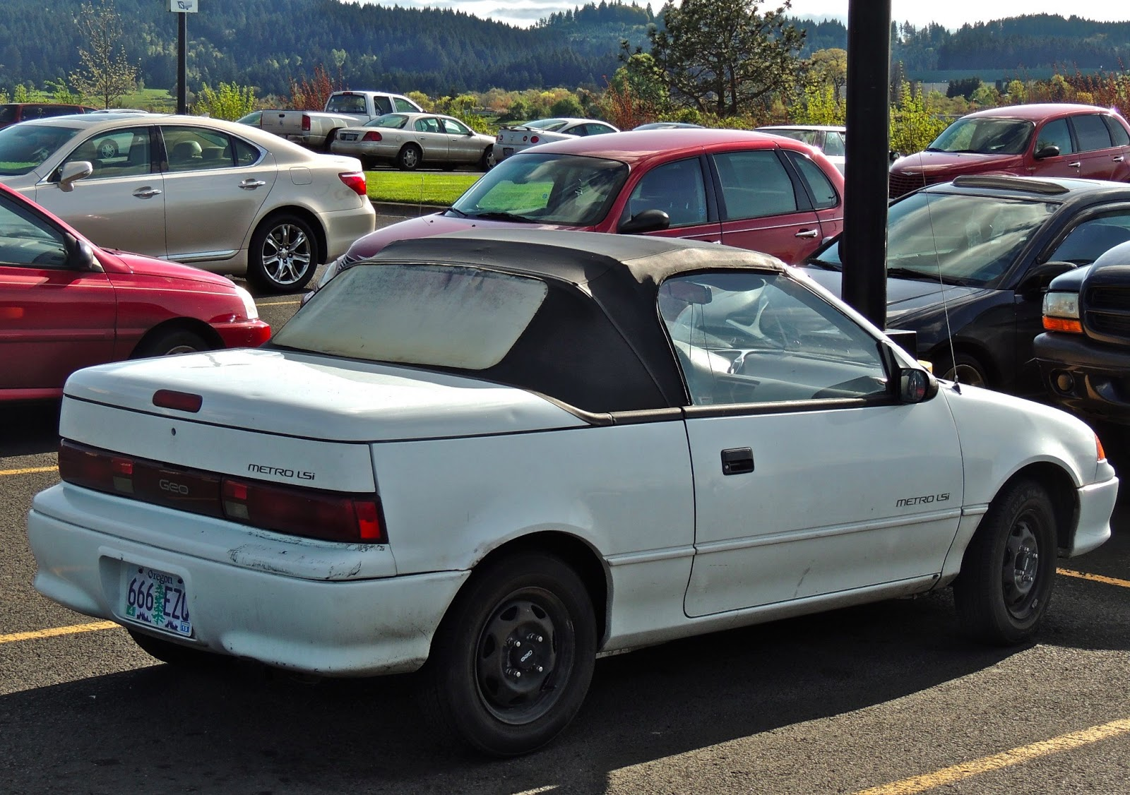 Wal Mart Parking Lot Find Circa 1992 Geo Metro Lsi Convertible