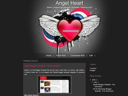 Angel Heart - Love Blogger Template - Love Blog
