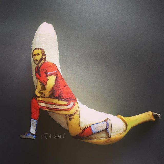 lukisan media pisang paling kreatif unik lucu dan menakjubkan