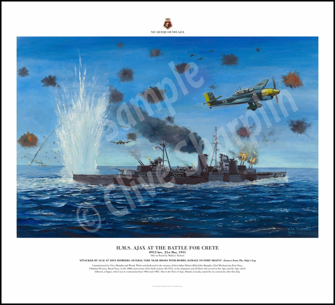 HMS Ajax at Crete: Ajax Prints