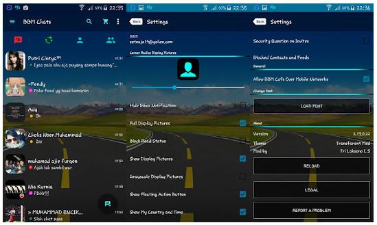 BBM Mod Transparan v3.0.0.18 Apk Terbaru