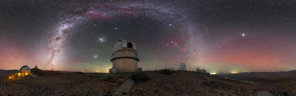 Dải Ngân Hà trên bầu trời Đài quan sát La Silla. Hình ảnh: Petr Horálek/ESO.