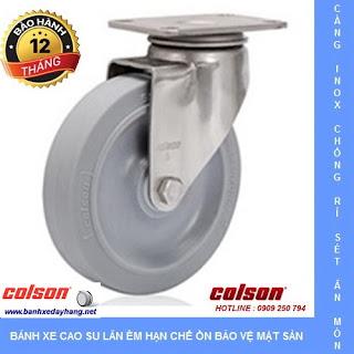Bánh xe cao su Performa, càng bánh xe inox xoay tải trọng (90 - 136kg)  www.banhxedayhang.net