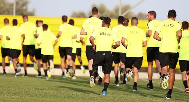 Το ρεπορτάζ της σημερινής προπόνησης των παικτών της ΑΕΚ
