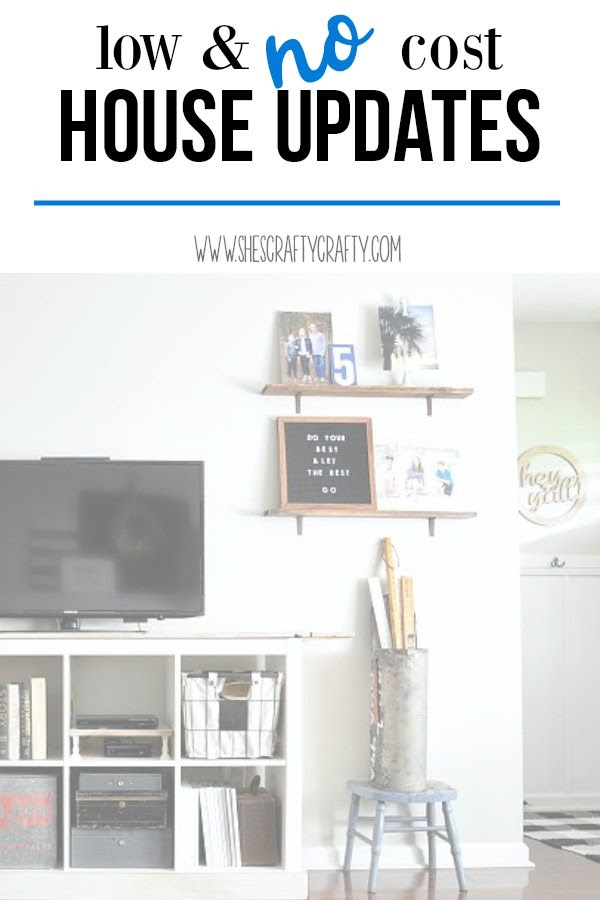 Low and no cost house updates- update your home inexpensively or with no cost with these tips