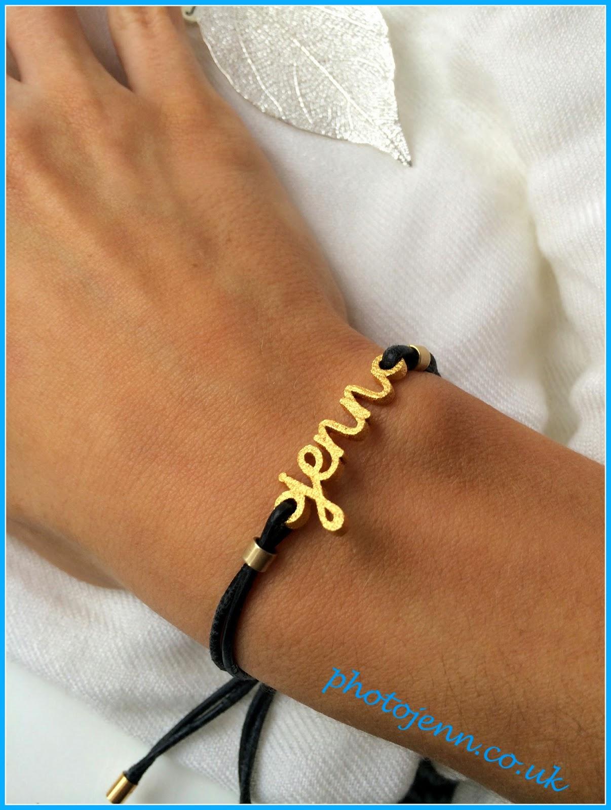 Zazzy-personailsed-name-bracelet-wordplay-gold--black-cord