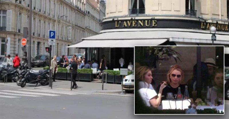 Angélica Rivera disfrutaba en el restaurante más racista de París.