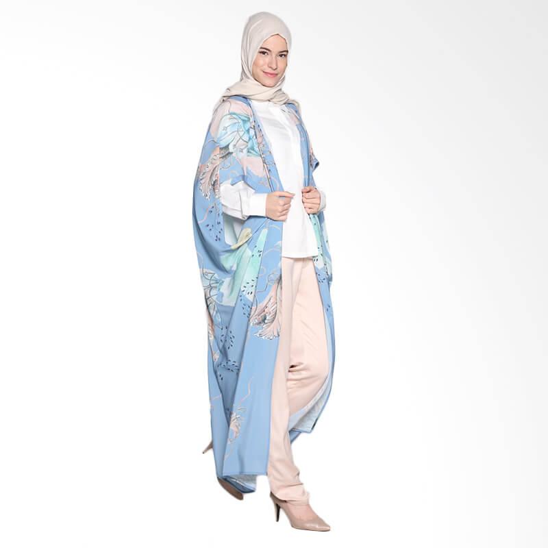 Ria Miranda Calla Atasan Muslim - Print Jellyfish Blue