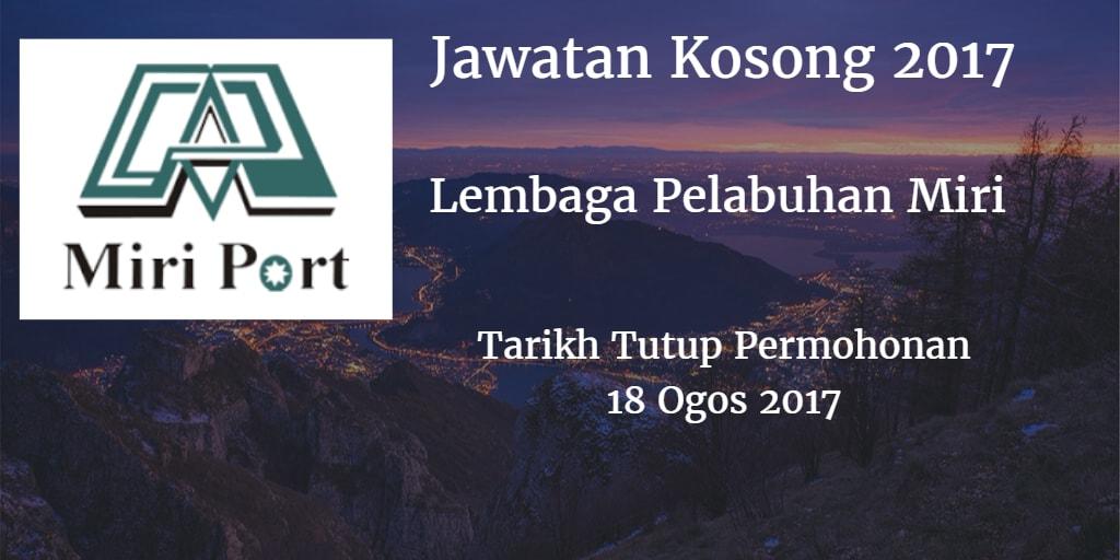 Jawatan Kosong Lembaga Pelabuhan Miri 18 Ogos 2017