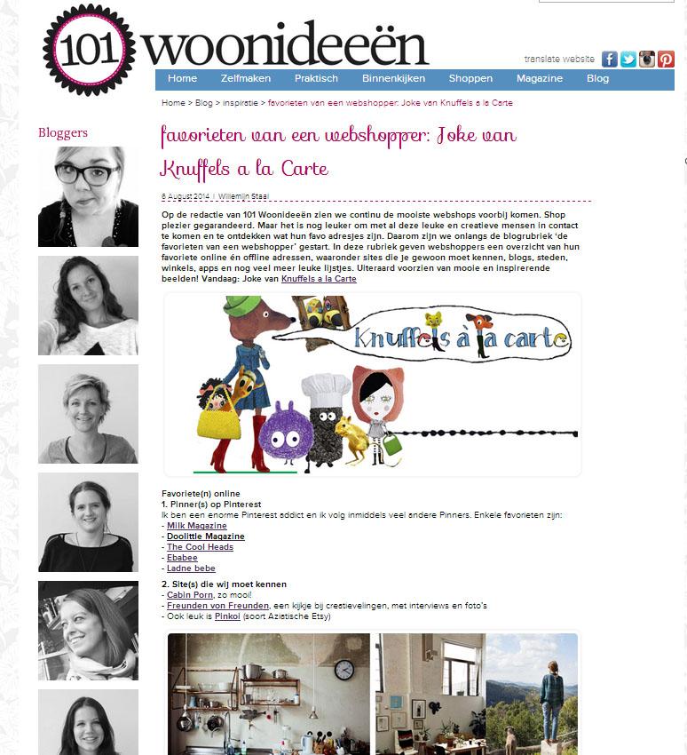 101 Woonideeen - favorieten Knuffels a la carte