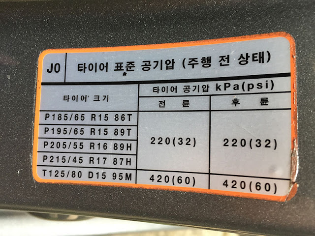 Áp suất lốp tiêu chuẩn của xe Hyundai | Áp suất lốp xe Hyundai i10 | Hyundai i30 | Hyundai Tucson | Hyundai Santafe