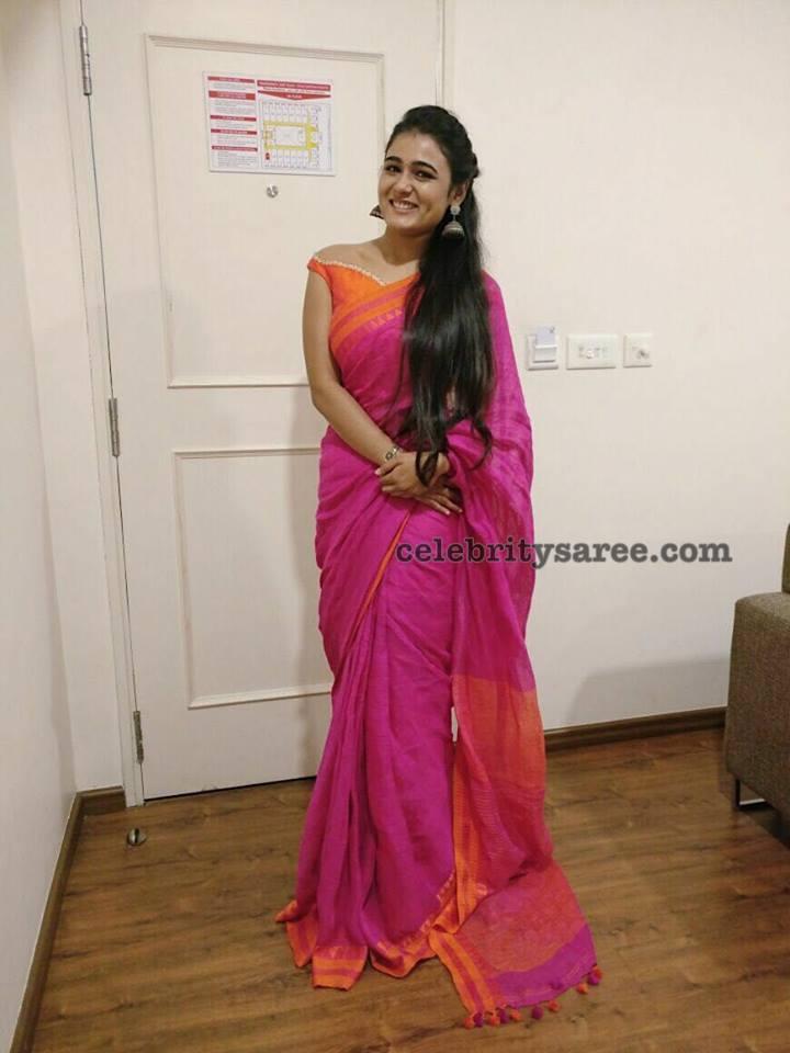 Shalini Pandey Handloom Saree