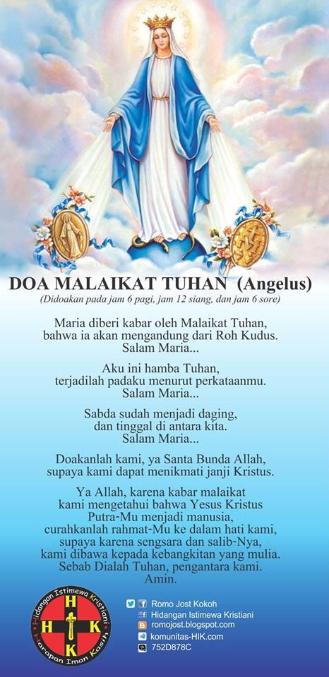 HIK  Hidangan Istimewa Kristiani Doa Angelus