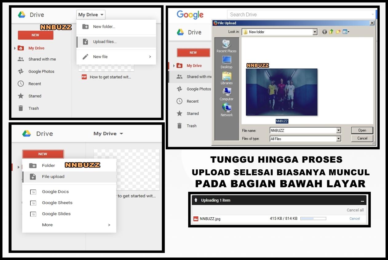Cara Cepat Upload File Ke Google Drive Nnbuzz