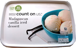 Marks and Spencer  vanilla count on us ice cream dessert