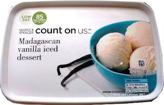 Marks and Spencer  vanilla count on us ice cream dessert