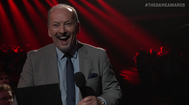 The Game Awards Chief Competition Officer Electronic Arts Peter Moor laughing happye