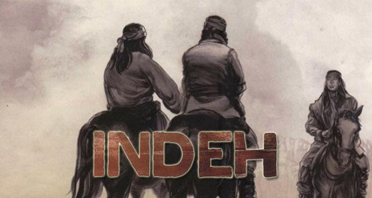 """Extracto de la portada de """"Indeh: Una historia Apache"""""""