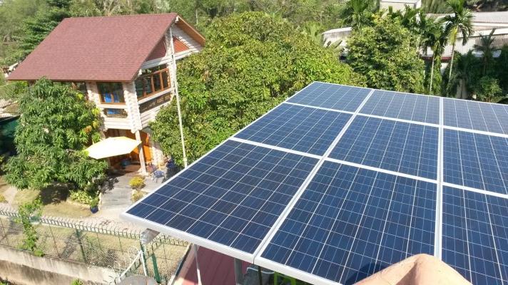 Điện mặt trời , hệ thống điện hòa lưới