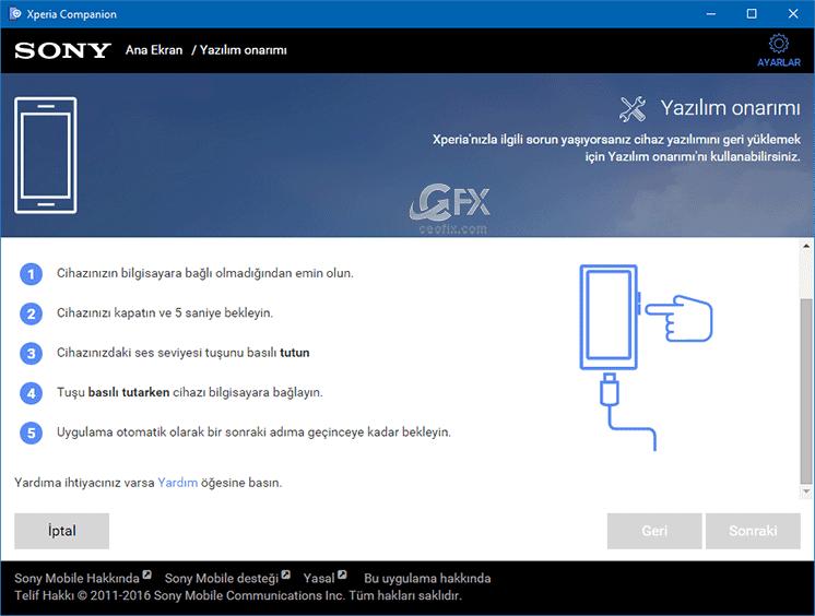 yazılım onarım ekranı.ceofix.com