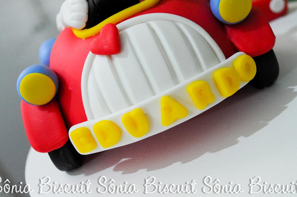 Mickey Biscuit Topo de Bolo