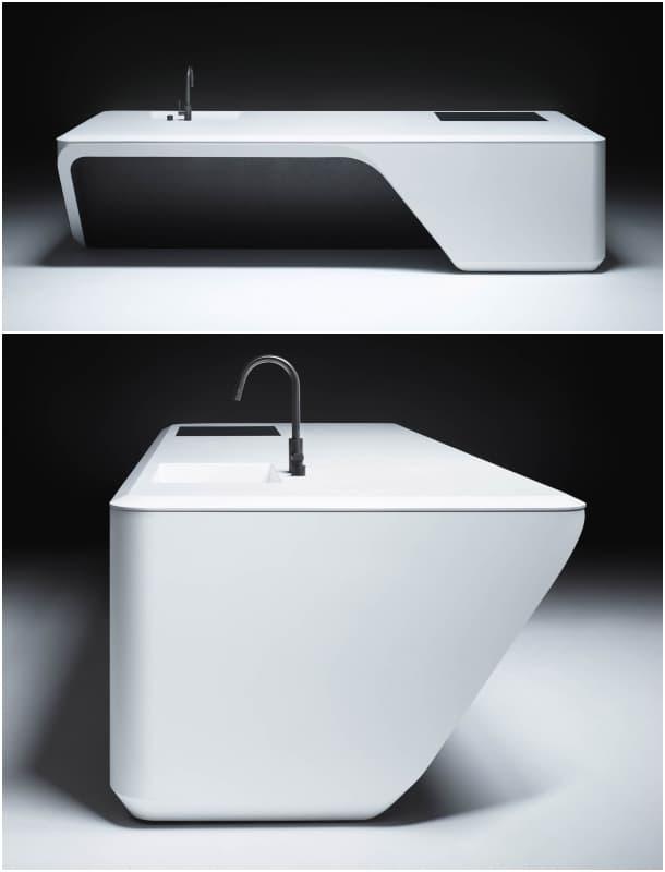Marzua: COVE: isla de cocina diseñada por Zaha Hadid Architects