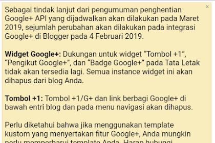 Google Plus dihentikan Google