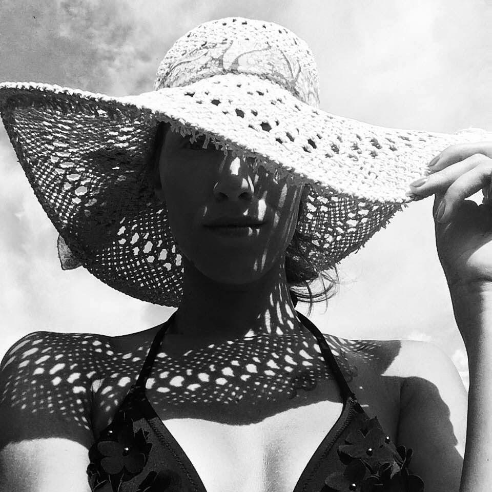 hm beach straw fedora hat