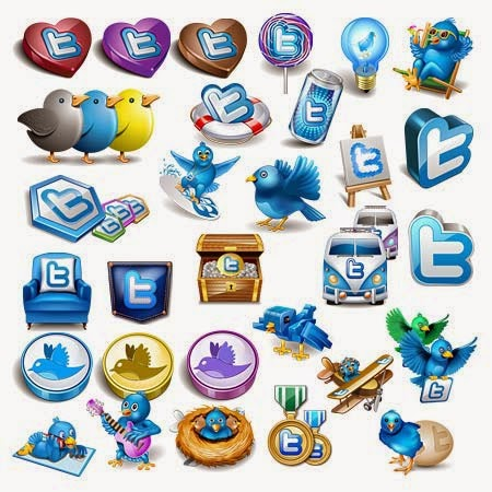 Free Awesome Twitter Icon Mega Collection