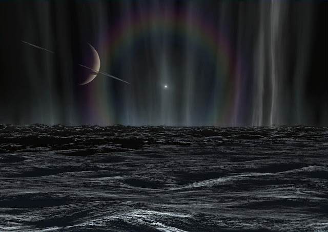 Sunset on Enceladus