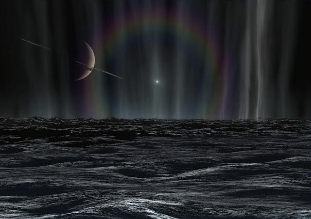 Sunset on Enceladus