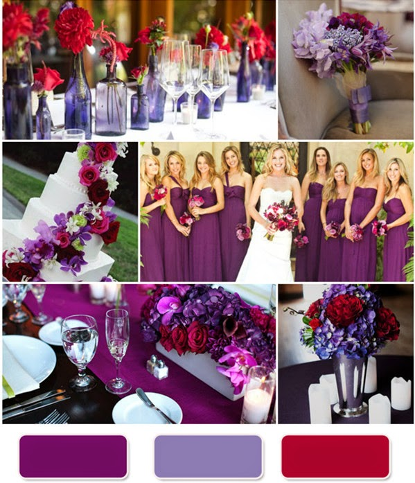 Purple Weddings Ideas: Red And Purple Wedding