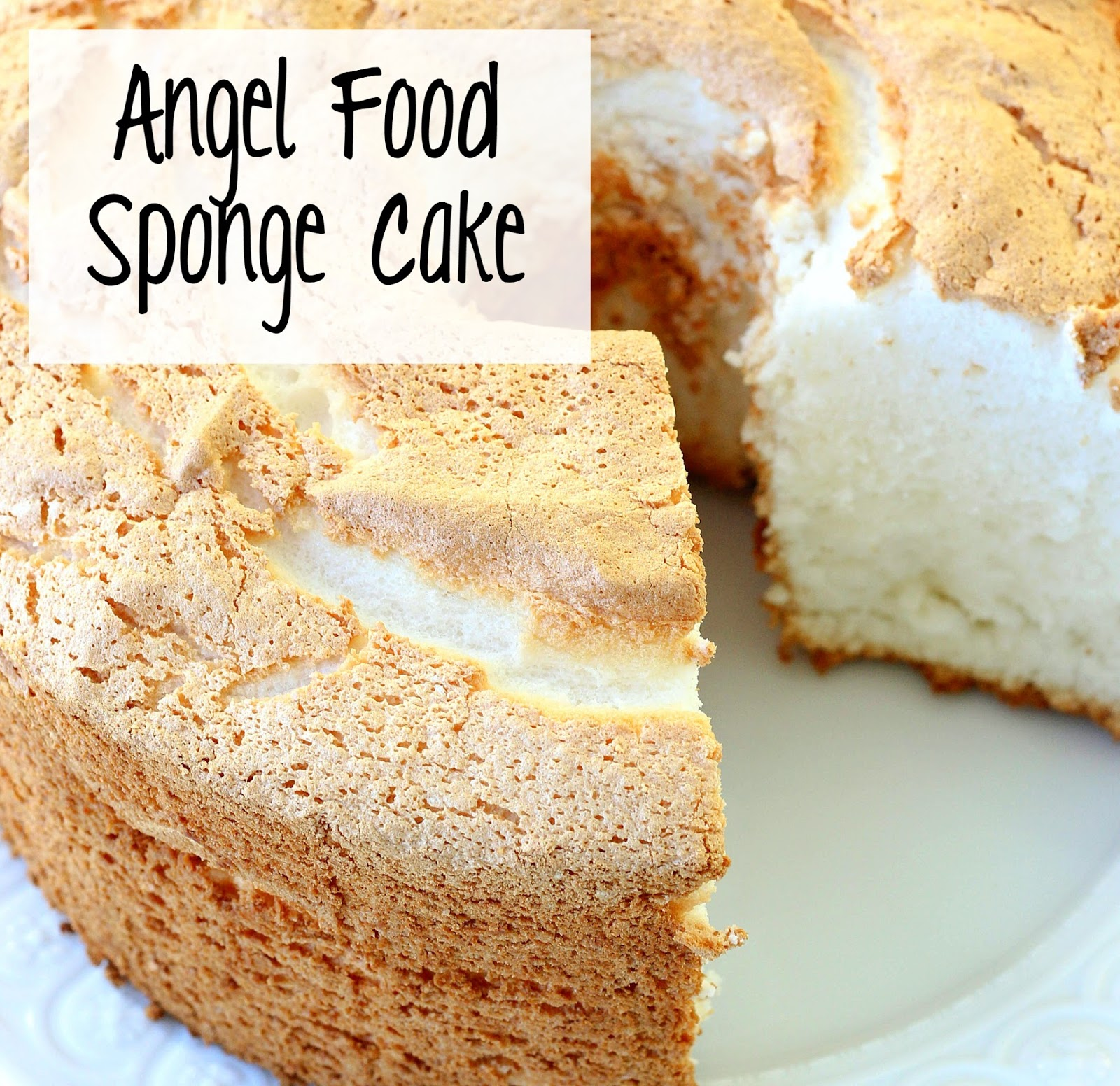 Angel food cake video included whatscookingwednesday i find most angel food cake recipes although they are good they only use the eggs whites which leaves you with yolks to deal with after you have made the forumfinder Images