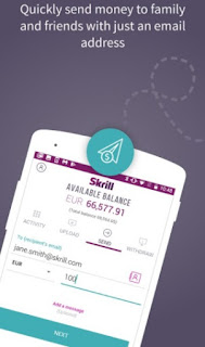 Skrill app quickly send money to family and friends