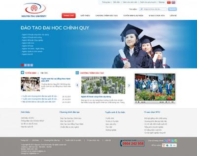 Thiết kế website giáo dục - mở rộng tương lai