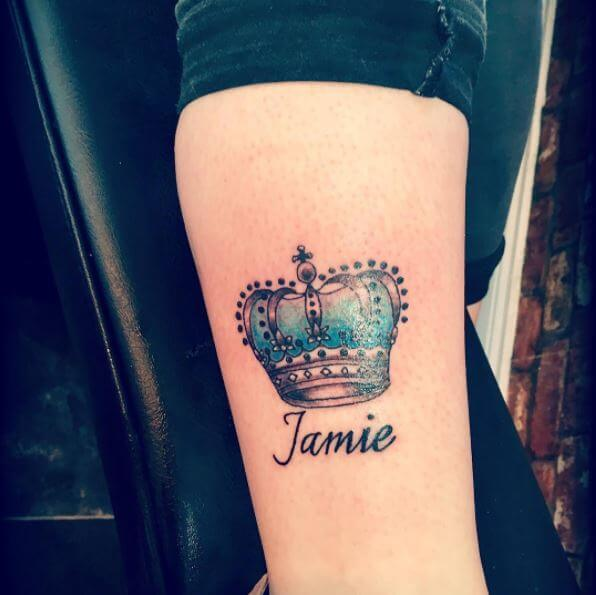 50 name tattoos fonts for men and women 2018 page 3 of for Names with crown tattoos