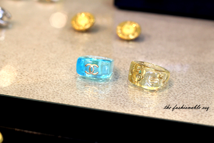 chanel lucite rings rare