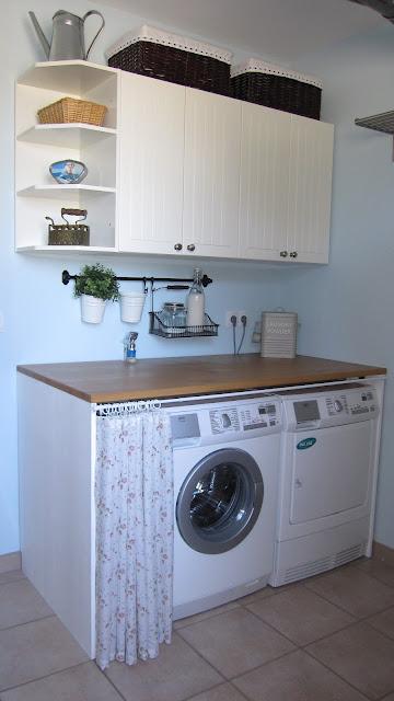 kleines gelbes haus hauswirtschaftsraum mit ikea k chenschr nken. Black Bedroom Furniture Sets. Home Design Ideas