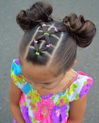 peinados infantiles elegantes con ligas