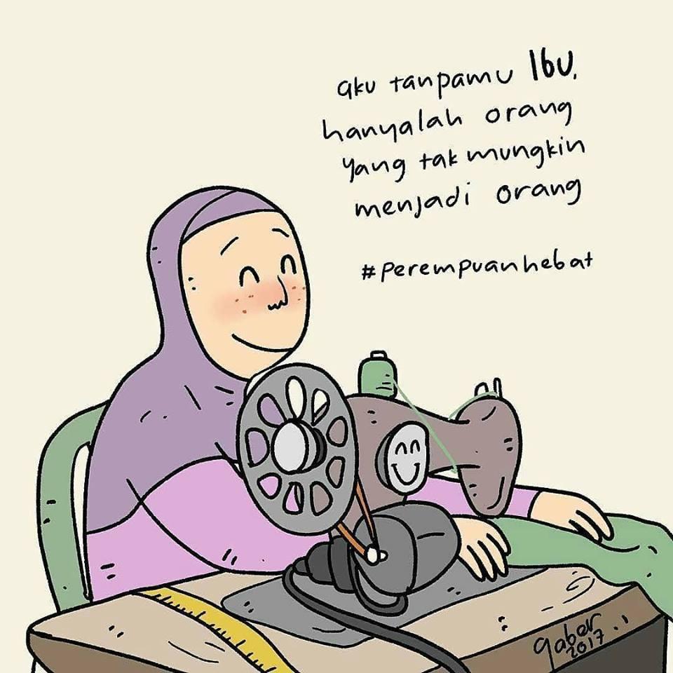 Gambar Kartun Muslimah Yang Sedang Sakit Top Gambar