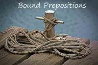 Bound preposition