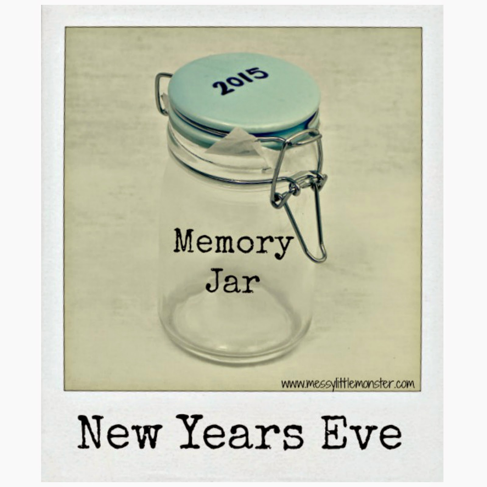 New Years Eve Memory Jar - Messy Little Monster
