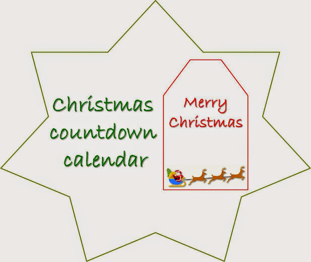 christmas countdown calendar, christmas printable