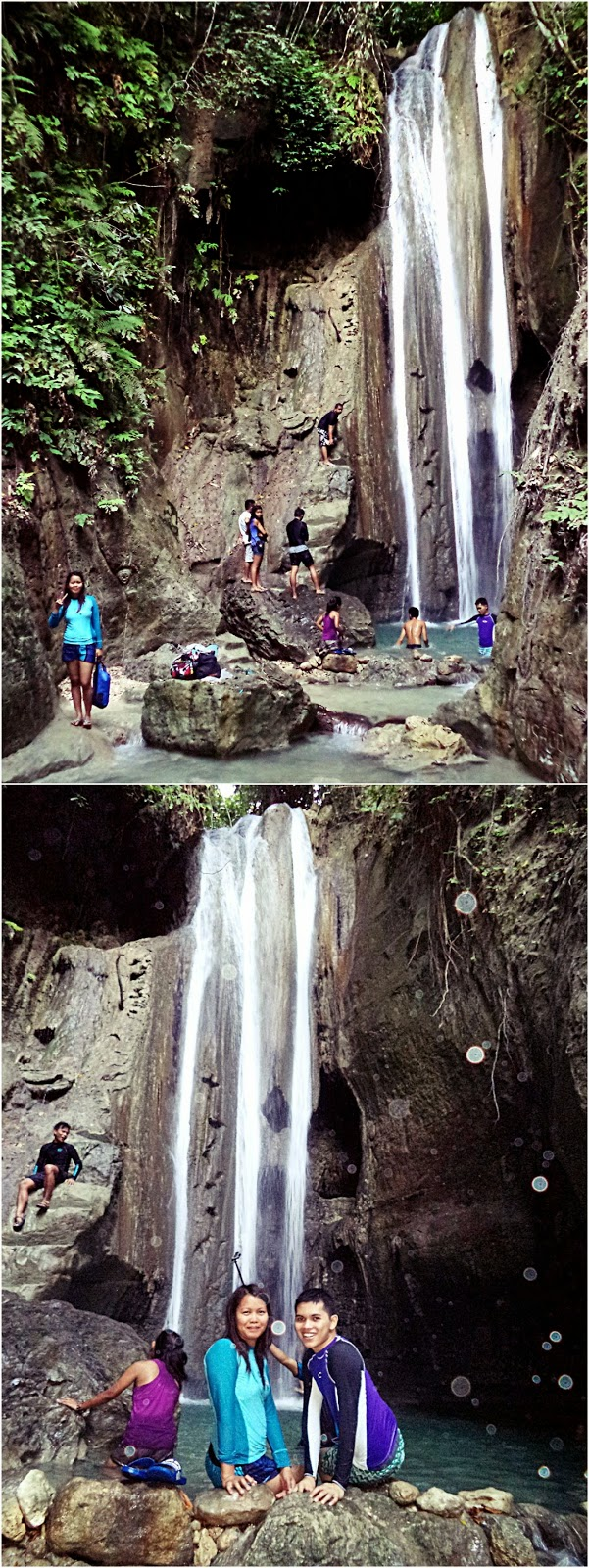 Triple Drop Falls, Binalayan Falls, Samboan, Cebu