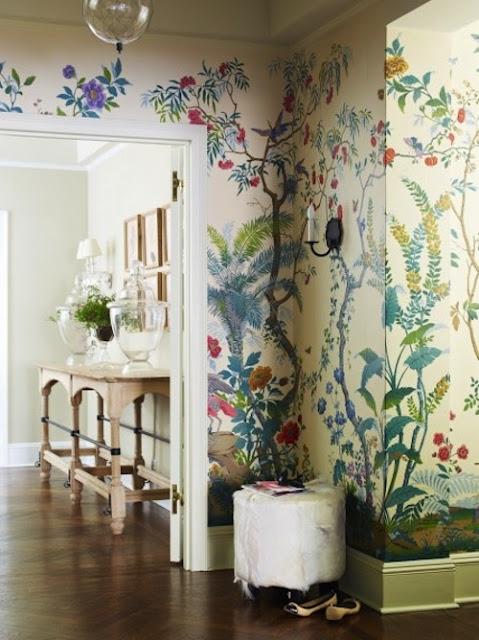 Decorar el pasillo con papel pintado