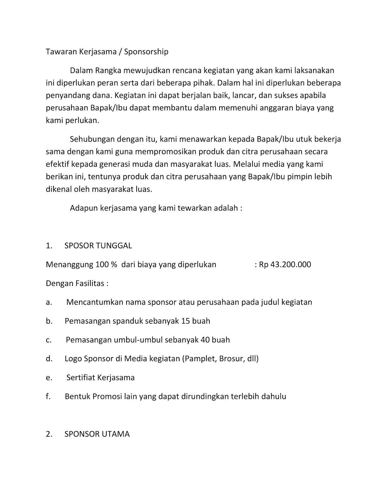 Contoh Proposal Jalan Sehat 17 Agustus Pdf - Berbagi ...